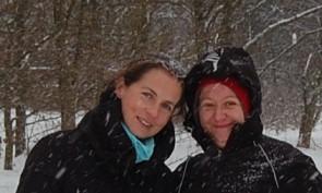 z Anią przed startem