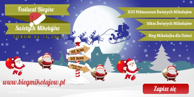 Biegaczu - zostań Świętym Mikołajem!