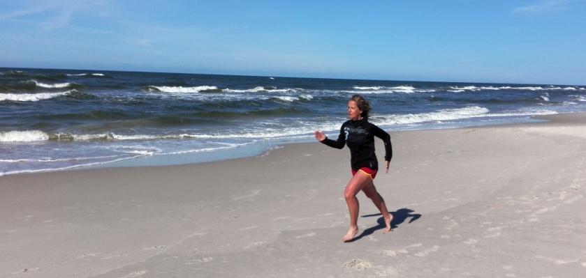bieg po plaży