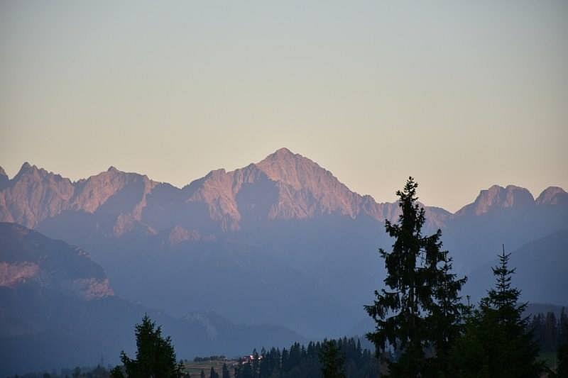 Tuż przed zachodem słońca (fot Goniacka Białka Tatrzańska)