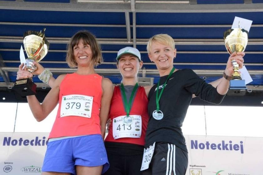 Radość na podium w Maratonie Puszczy Noteckiej